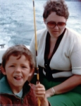 We often went fishing. This picture is from 1977. My mother is behind me.