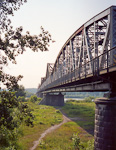 Puławy is located close to the longest river in Poland, Vistula (Wisła), and this is one of the bridges crossing it.