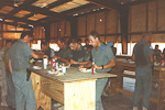After some time we got a proper dining facility, so we did not have to eat inside hot tents.