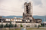 This building in Sarajevo, Bosnia, had it's share of the war. But people were living in these wrecked buildings too...