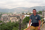 Me in Mostar, Bosnia. The city was pretty messed up...