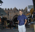 Inside the Jaffa Gate in the evening. Since this was during the Ramadan, all the muslims had gone to eat at this time.