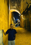 This picture is from Via Dolorosa. Behind me is the Ecce Homo Arch.