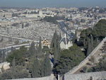 The Church of St Mary Magdalene seen from the Mount of Olives.
