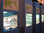On one wall, the greatest shipping ports of the World were displayed. Among them, Bergen, close to where I grew up.