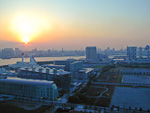 Sunset over Odaiba, as seen from the Telecom Centre.