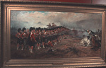 Inside the Castle is the original painting of The Thin Red Line by Robert Gibb. The painting is showing the Sutherland highlanders at the battle of Balaclava during the Crimean War.