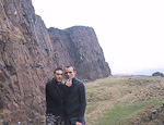 Hamid and myself in Holyrood Park, close to the Palace of Holyroodhouse.