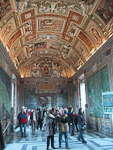 There are so many paintings and works of arts in the museum, that it would take many years to study them all. The most famous part of the Vatican museum is the Sistine Chapel, but photography is strictly forbidden in that room.