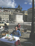 Lunching at Praca Da Figueira, close to Rossio.