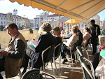 A café at Rossio. For a Norwegian, it is always a pleasure to be able to have a drink outside in March. Especially knowing that it was snowing back home in Oslo at this time.