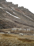 Most of the people who die here are sent to the mainland to be buried, but there is also a graveyard in Longyearbyen. Most of the graves here are from before World War II.
