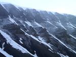 The mountains seen from Nybyen (Newtown) in Longyearbyen.