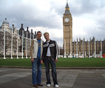 Me and Anton in front of Big Ben.