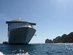 (English) Mariner of the Seas anchored near the tip of the Baja California peninsula.