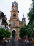 (English) Our Lady of Guadalupe church in the center of Puerto Vallarta.
