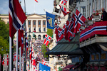 Constitution Day is celebrated with parades everywhere in Norway. In Oslo, the parade is marching up in front of the Royal Palace, where the royal family will greet the crowd from their balcony.
