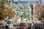 There are many murals around the center of Philadelphia. This one is from S 13th Street and Locust Street.