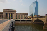 The 30th Street Station and the 29-story Cira Center.