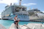Me in front of the Allure of the Seas in the Philipsburg harbor.