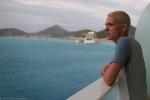 Sailing away from Sint Maarten.