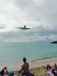 We went to Mahu beach, right next to Princess Juliana International Airport.