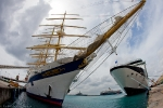 Royal Clipper and Celebrity Summit. Royal Clipper is the world's largest square-rigged ship in service