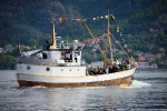 The Culture Boat MS Glesnes heading for Bergen to take part in Market Day 2012.