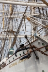Statsraad Lehmkuhl was built by the Germans in 1914, confiscated by the British in 1918, and sold to Norway in 1921.