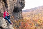 Having a break while climbing Breakneck Ridge.