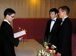 The ceremony in Oslo Courthouse.