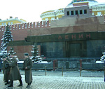 The Lenin mausoleum is located on the Red Square. The body of the founder of SSSR has been kept on display.since 1924, and is today one of the few