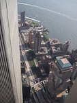 Looking down at the World Financial Center from the North Tower.