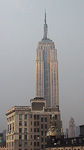 Empire State Building on a rainy day.