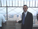 And here I am at the top of the Empire State Building as well. I had to go to all the high places. When the building was completed in 1931, after a little more than a year of construction, it was the tallest building in the world. Behind me, the huge Central Park can be seen.