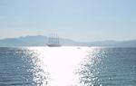 A sailship in the Golf de la Napoule.