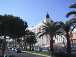 Hotel Carlton is a famous landmark of Cannes.