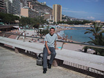 The beach of Monte Carlo.