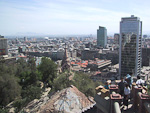 Santiago seen from the top of Cerro Santa Lucia. This mountain is just 500 meters from Plaza de Armas.