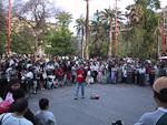 A street comedian at Plaza de Armas.