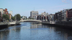 The river Liffey runs through the central area of Dublin.