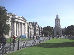 The Companile at the Library Square. Legend says that any student who passes under those arches, will never graduate from Trinity College.