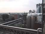 The Guinness Brewery is one of the largest in the world, and produces about 60 % of all the beer consumed in Ireland. It is also the worlds largest exporter of beer. In the middle of all the pipes and tanks, there is an old church!