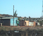 Most of the houses here are of very simple construction. Few white South Africans have been to any of these townsips, and noone I talked with could understand why I wanted to go there.