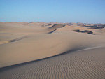 These are the sand dunes between Swakopmund and Walvis Bay.