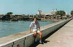 This is me in the harbour, next to the Indian Ocean.