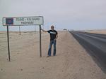 The Trans-Kalahari Highway between Swakopmund and Windhoek.