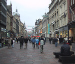 Buchanan Street is the main shopping street in Glasgow.