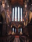 The interior of this gothic church is quite impressive.