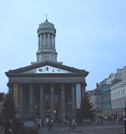 The Royal Exchange in the center of Glasgow.